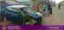 Mobil Hantam Tiang Telkom